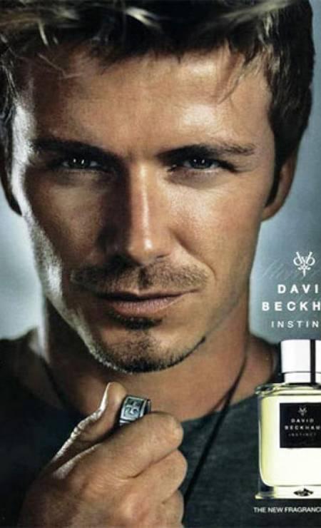 Para a David Beckham Instinct, perfume do jogador lançado em 2005 Foto: Divulgação