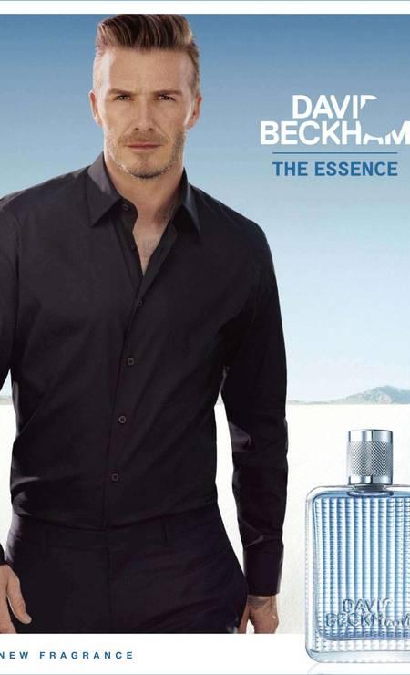 Em 2012, para a sua própria fragrância, David Beckham The Essence Foto: Divulgação