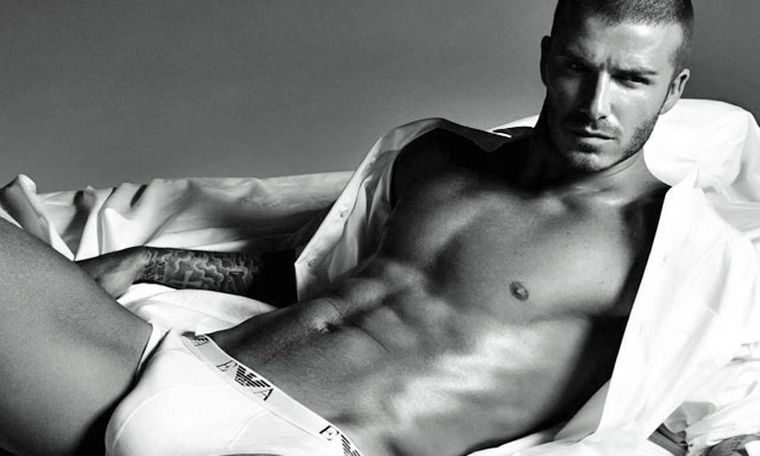Entre 2007 e 2009, Beckham foi, ao lado da mulher, Victoria, embaixador da underwear da Armani Divulgação
