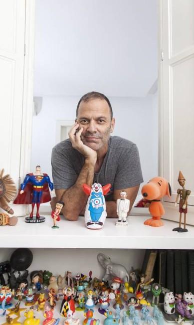 Os bonecos do ator e roteirista Aloísio de Abreu também ganharam um projeto para deixá-los bem à vontade. Agência O Globo / Daniela Dacorso