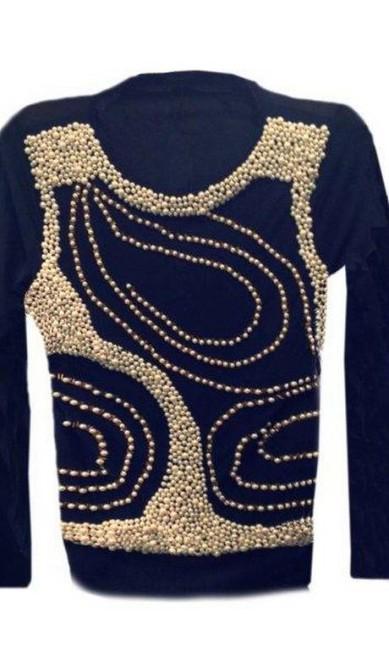 Blusa com pérolas da Mary Zaide (21 2540-6968), R$ 570 Divulgação