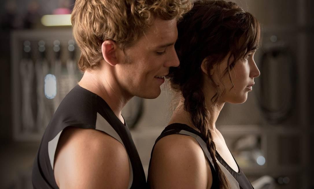 """Protagonista nas semanas de moda, a trança também ganha papel de destaque na sequência de """"Jogos Vorazes"""". Jennifer adotou uma versão mais """"podrinha"""" do penteado Divulgação"""