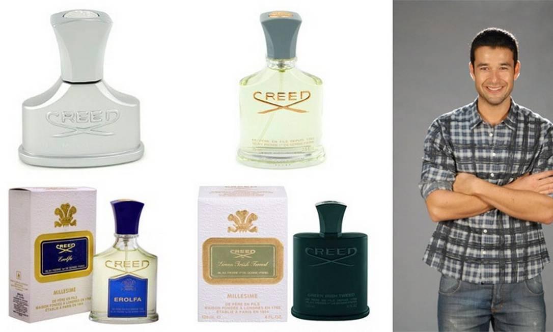 """Sérgio Marone, ator: """"eu uso um perfume da marca Creed. Gosto de todas as fragrâncias deles, mas não revelo qual que eu uso. É segredo"""", brincou ele Montagem sobre fotos de divulgação"""