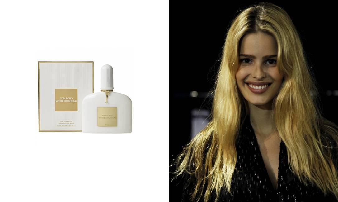 """Yasmin Brunet, modelo: """"Gosto de qualquer perfume que tenha flores brancas na composição. Mas gosto muito do White Patchouli do Tom Ford"""" Laura Marques / Montagem sobre fotos de divulgação e Laura Marques / Agência O Globo"""