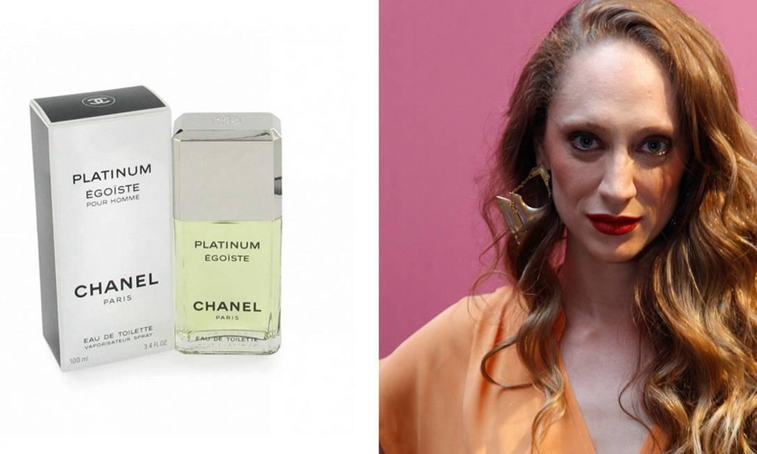 """Thalyta Pugliesi, modelo e apresentadora: """"Uso o mesmo há 14 anos. Só troquei uma vez, mas voltei pra ele. É o Platinum, da Chanel, que é mais amadeirando. Sei que um perfume assim só se deve usar durante o dia, mas eu coloco o tempo todo"""" Montagem sobre fotos de divulgação e de Guito Moretto"""