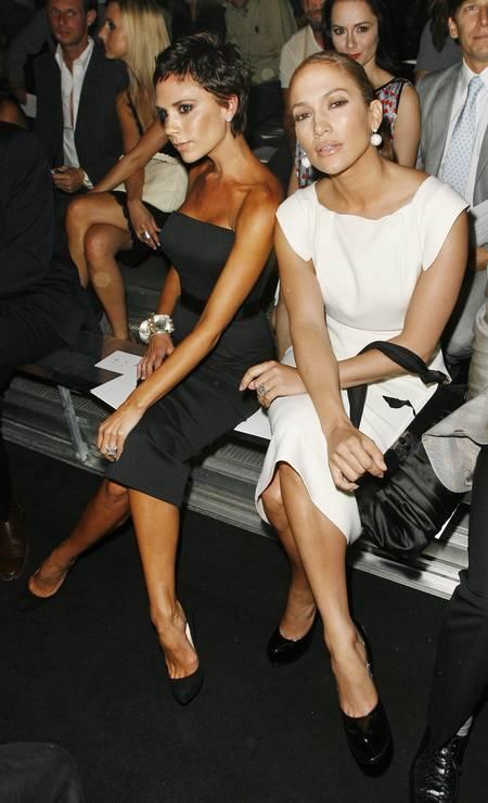 Os desfiles de Marc Jacobs na semana de moda de Nova York costumam ser acompanhados por um batalhão de celebridades. Victoria Beckham e Jennifer Lopez são algumas das fãs famosas do designer Foto: Lucas Jackson / REUTERS