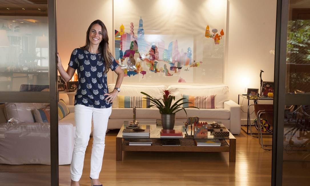 A casa de Mariana Halpern, do escritório Erick Figueira de Mello, no Leblon Daniela Dacorso / Agência O Globo