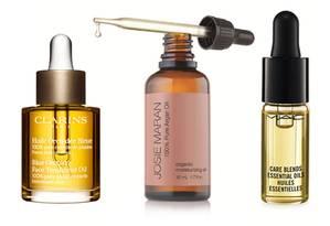 Clarins, Josie Maran e M.A.C.: marcas investem no óleo como cosmético facial Foto: Divulgação