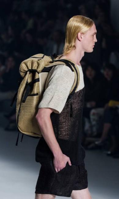 A mochila masculina merece destaque YASUYOSHI CHIBA / AFP