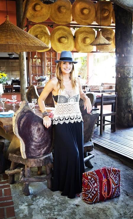Ines Coelho, que mora em Nova York e tem o olhar apurado para achar pequenos paraísos, frequenta o Aprazível, em Santa Teresa Leonardo Aversa / Agência O Globo