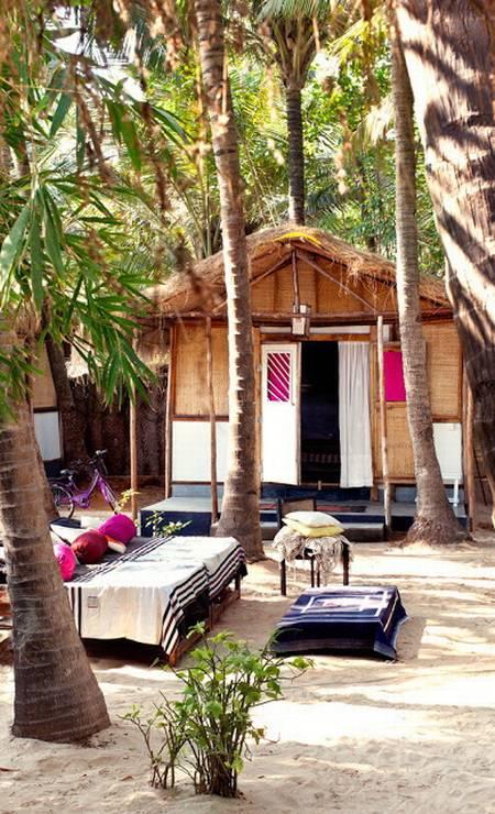 A casa de Jade em Goa, na Índia, possui bangalôs com décor local para abrigar os amigos Terceiro / Divulgação