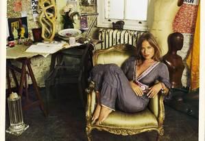 Jade Jagger é a maior referência do estilo gypsetter Foto: Terceiro / Divulgação