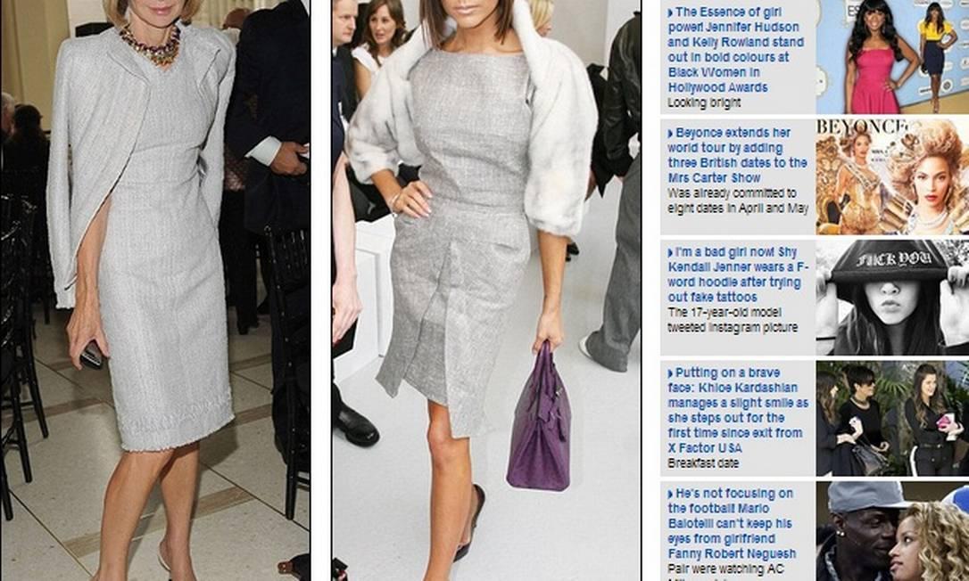 Vestido cinza e óculos escuros: definitivamente, Victoria e Anna bebem da mesma fonte fashion Reprodução