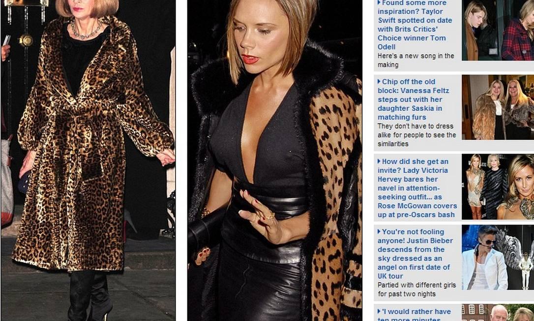 A estampa de leopardo surge como elemento importantíssimo no closet de Victoria e Anna Reprodução