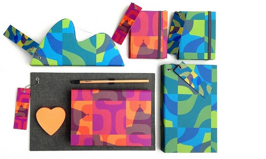 Os produtos desenvolvidos por Kakau para a Papel Kraft (www.papelcraft.com.br) Foto: Divulgação