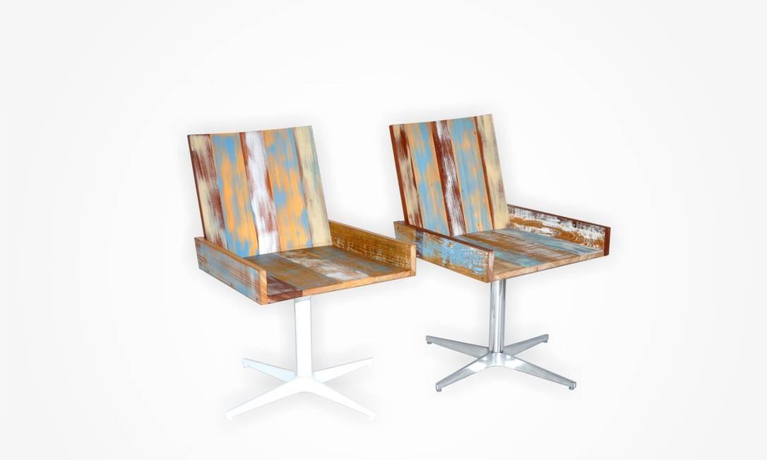 Cadeiras Camille, de Pedro Mendes (R$ 4.055 cada), na Way Design (www.waydesign.com.br/) Foto: Terceiro / Divulgação