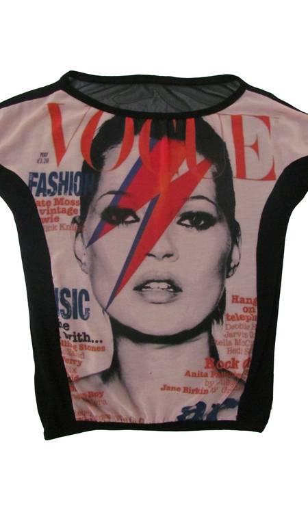T-shirt Kate Moss da Favela Hype (21 2431-9590), R$ 109,90 Divulgação