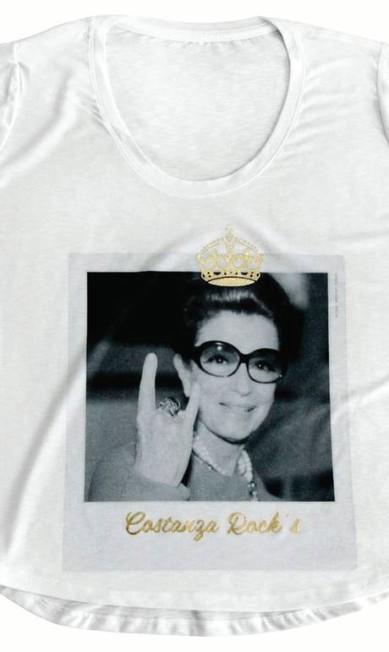 T-shirt Costanza Rock´s da Miss Melon para Amo Muito (www.amomuito.com), R$ 139 Divulgação