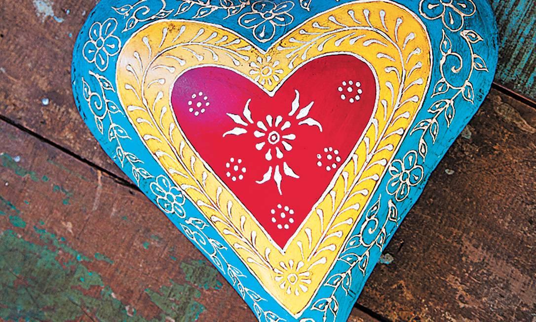 Coração de aço pintado da Pequena Tiradentes (32 3355-1262), R$ 135 Ana Branco / Agência O Globo