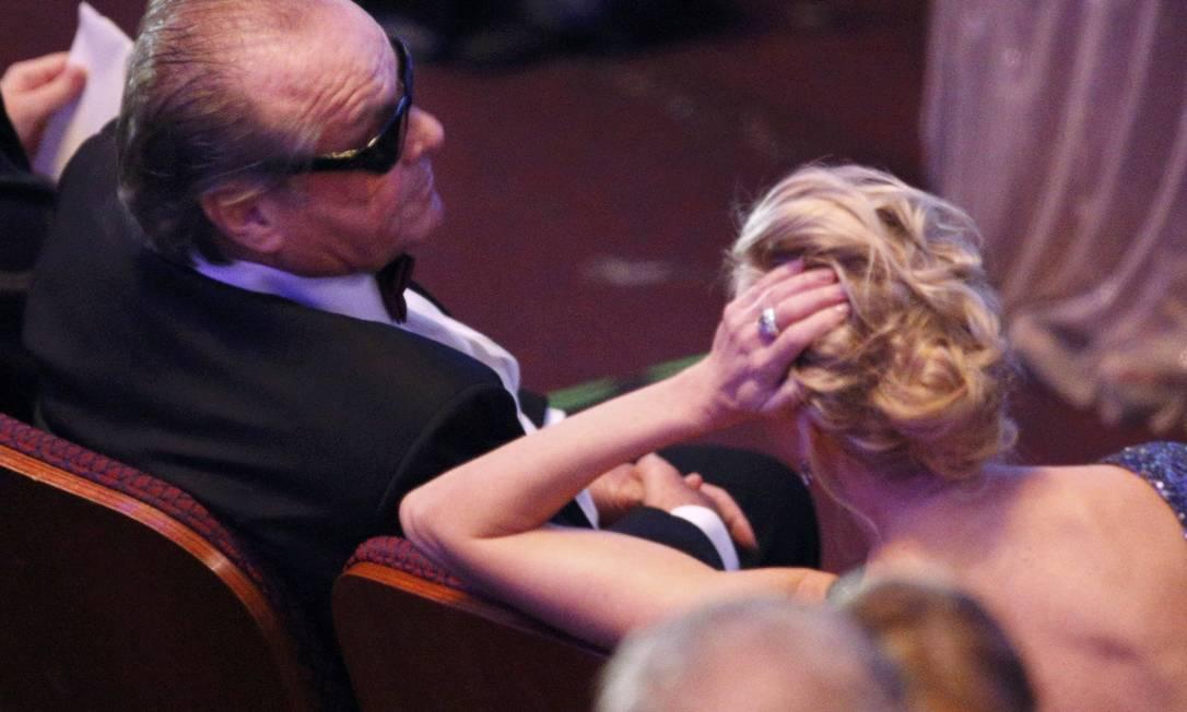 Outro ângulo do penteado da atriz... MARIO ANZUONI / Reuters