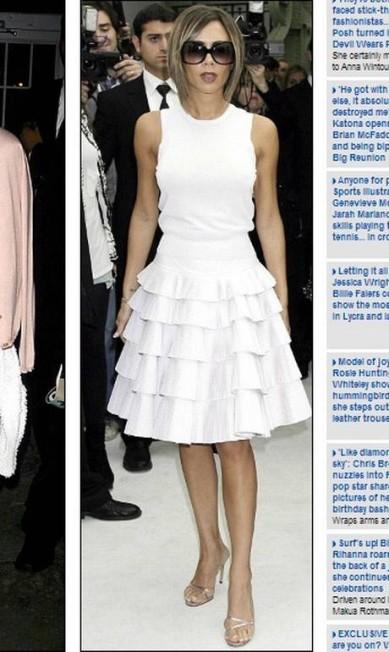 Mais uma coincidência fashion: Victoria e Anna parecem amar a leveza do vestidinho branco Reprodução