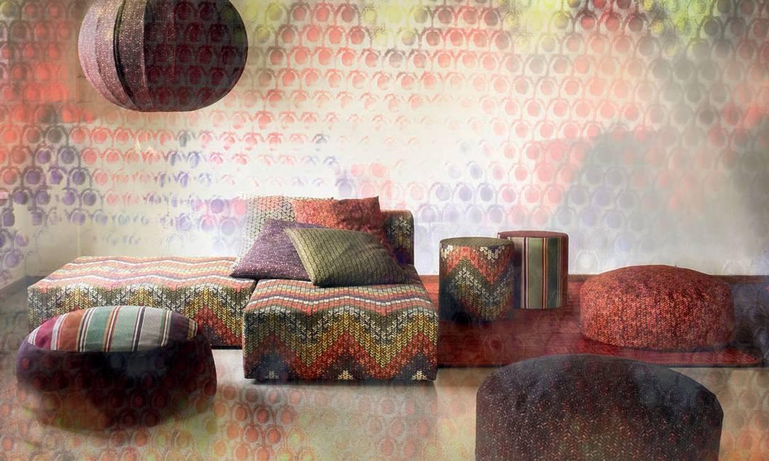 Criada em 1983, a linha home da Missoni, que chegou ao Brasil em julho de 2010, explora ícones da marca, como a estampa zigue-zague, tema recorrente nas roupas criadas pela casa italiana Missoni