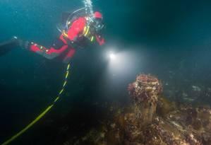 Uma expedição feita em abril deste ano recuperou peças dos dois navios do século XIX, hoje naufragados no Ártico canadense, assim como ossos de alguns de seus tripulantes Foto: Divulgação