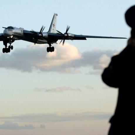 Bear, o bombardeiro Tu-95 russo Foto: Reuters