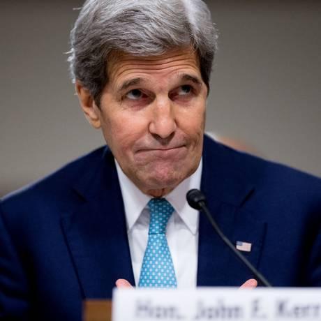 John Kerry participa de audiência no Congresso sobre acordo nuclear Foto: Andrew Harnik / AP