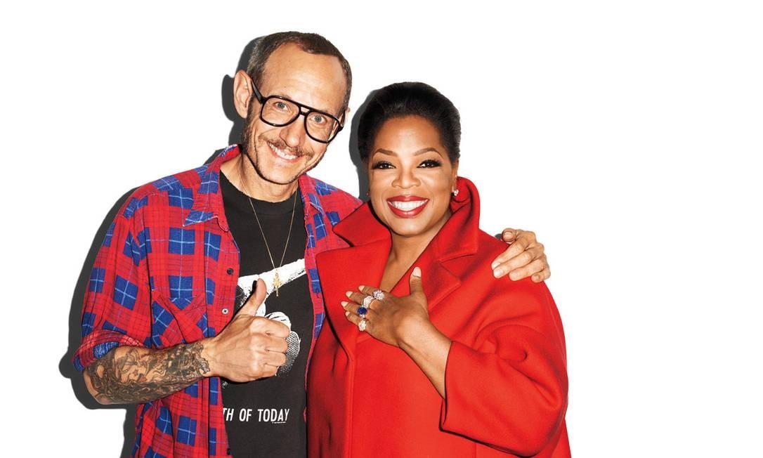 A apresentadora Oprah Winfrey posou ao lado de Terry Richardson Reprodução Tumblr