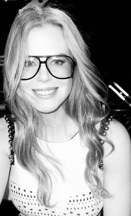 Nicole Kidman também foi fotografada com os óculos do fotógrafo Terry Richardson / Reprodução Tumblr