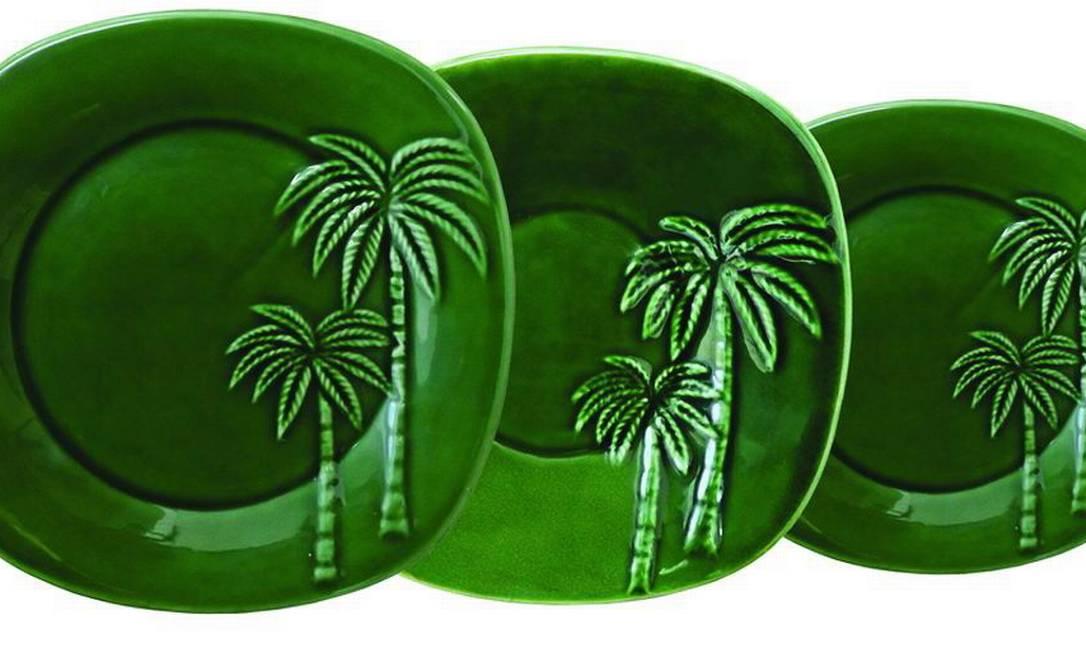 Baixela com 18 pratos em cerâmica da Table Chic, por R$ 638 Terceiro / Divulgação