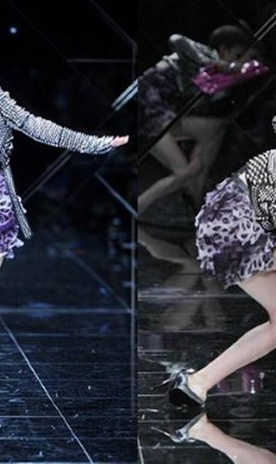 Na temporada de verão 2011, uma das modelos do casting da Burberry foi ao chão AFP