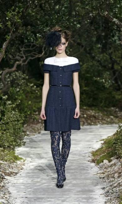 Como de costume, a Chanel não deixou de lado a elegância BENOIT TESSIER / REUTERS
