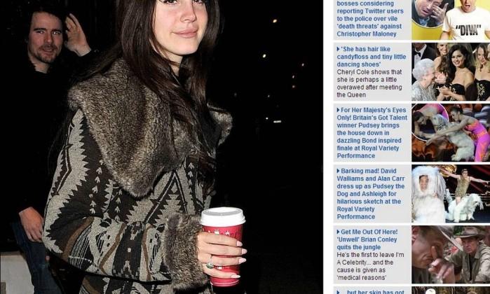 A cantora americana Lana Del Rey foi mais que exibiu o corte Reprodução