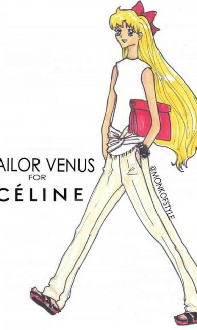 """Na imagem, Sailor Venus, do desenho """"Sailor Moon"""" surge com look da coleção de verão 2013 da Céline Reprodução"""
