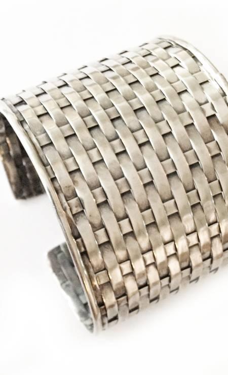 Bracelete em prata Bali da Boho Ourivesaria (21 3576 1370), de R$ 1.198 por R$ 1.080 Foto: Reprodução