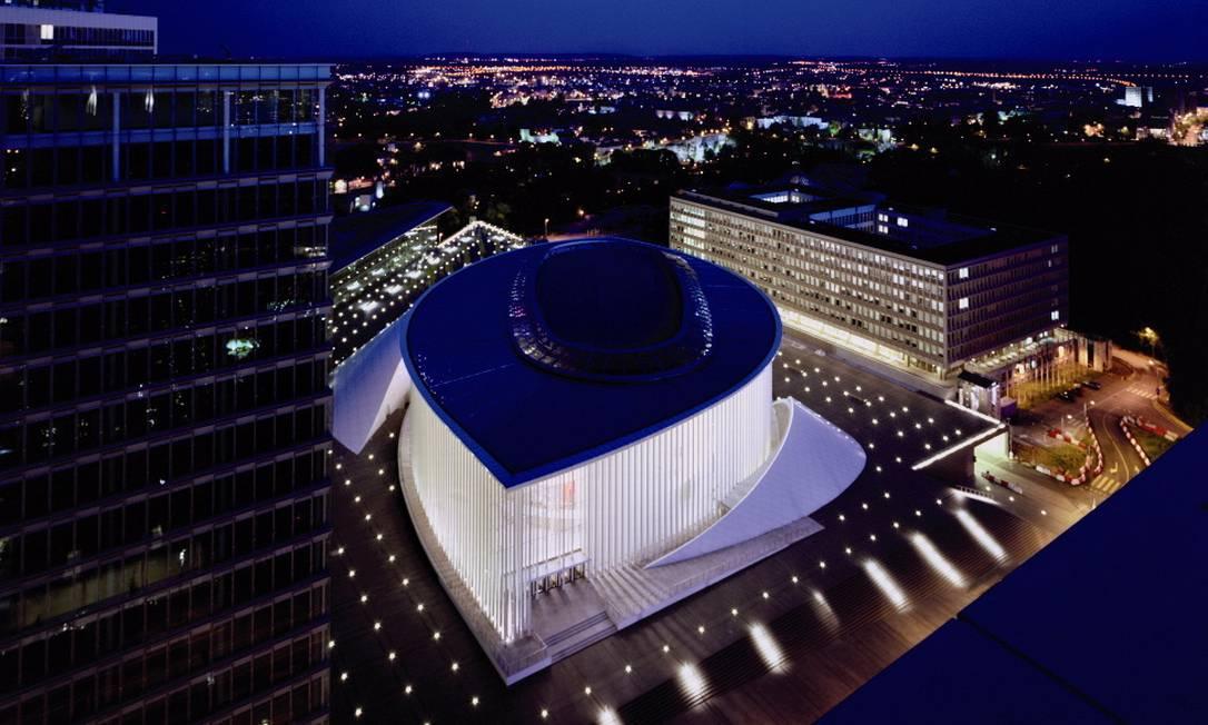Espaço da Filarmônica de Luxemburgo, construido entre 1997-2005 Terceiro / Divulgação