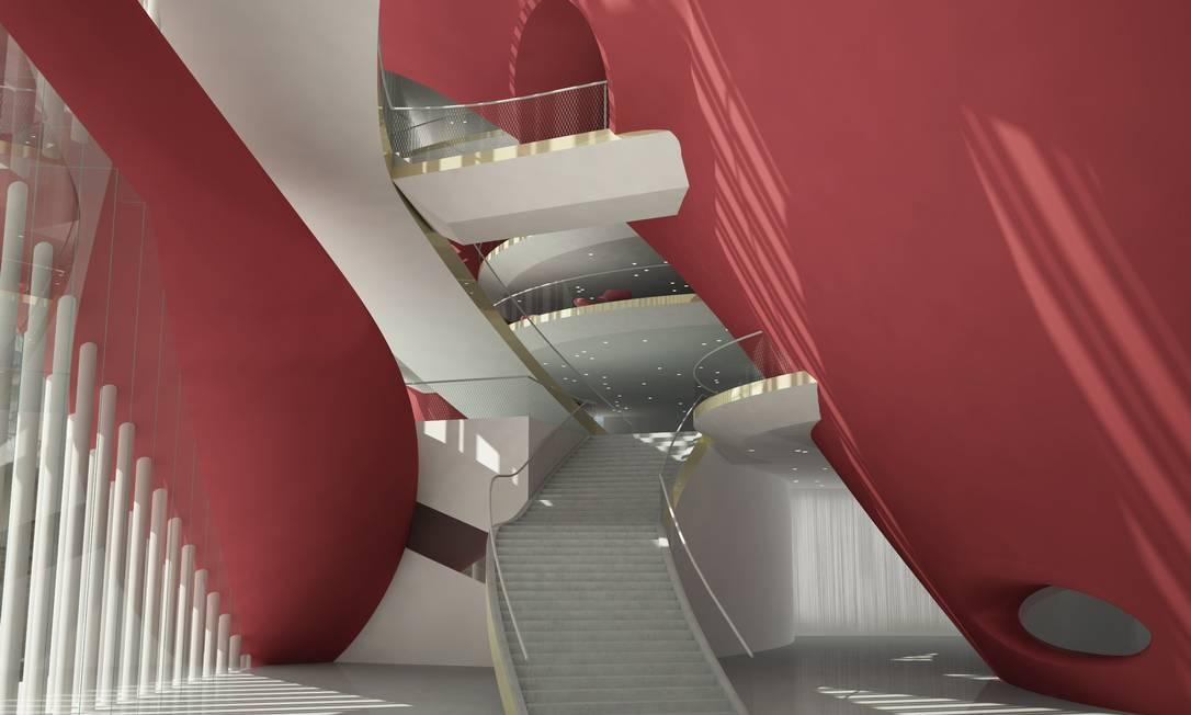 O interior do New York City Opera, projetado por Portzamparc Terceiro / Divulgação