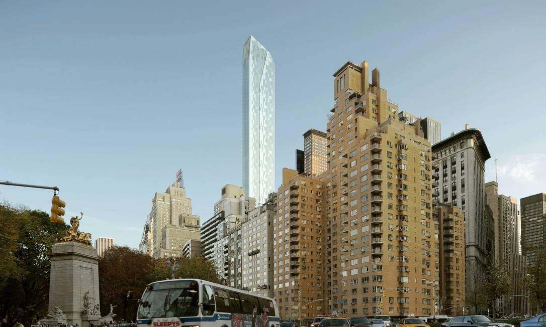 Em Nova York, Portzamparc projetou uma nova torre, em frente ao Carnegie Hall, com 300 metros de altura Terceiro / Divulgação