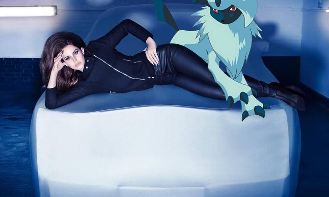 A campanha de inverno 2012/2013 da H&M, estrelada pela cantora americana Lana Del Rey, também foi manipulada por Phommissai Reprodução