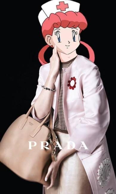 A nova campanha da Prada também entrou na brincadeira do canadense, de 23 anos Reprodução