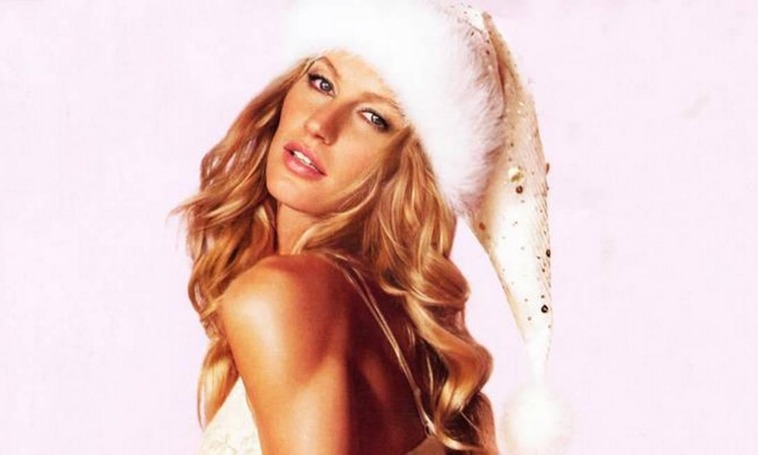 Gisele Bündchen postou esta foto em sua página no Facebook e desejou um feliz Natal a todos Reprodução Facebook