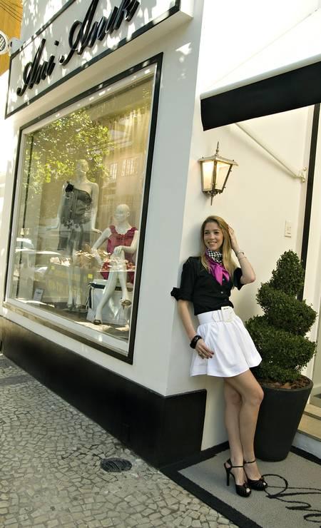 """Nicole Abramoff, estilista da A.Brand: """"Eu usaria o branco, como no réveillon. Para mim, a cor simboliza o ínicio de uma nova vida. Também não abriria mão do conforto. Não gostaria de começar uma nova etapa em aperto Foto: Divulgação"""