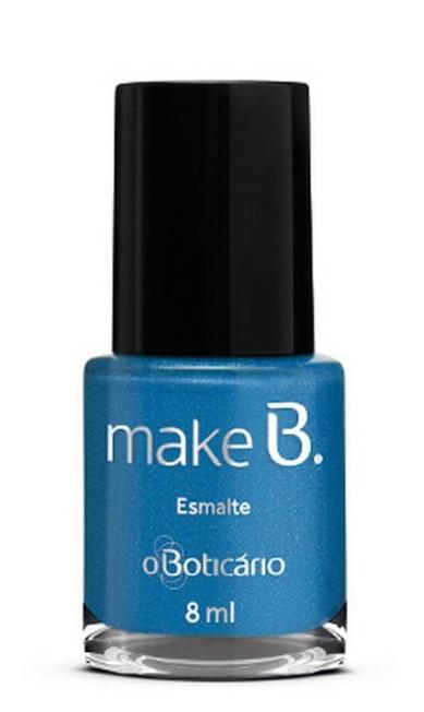 Para quem gosta de ousar mais, o esmalte Ocean Drive Blue do Boticário (http://www.boticario.com.br/) é uma boa pedida, por R$ 12,99 Divulgação