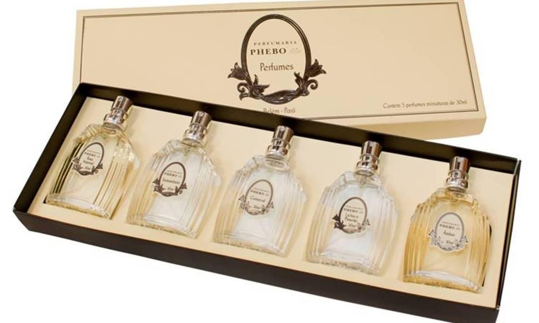 Caixa 5 mini perfumes Perfumaria Phebo (www.phebo.com.br), R$ 148 Divulgação