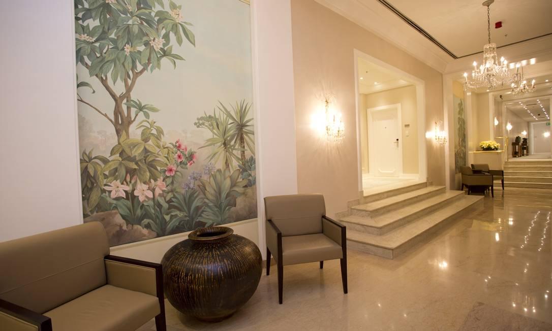 Corredores, quartos e lobby foram reformados e redecorados Jornal O Globo / Paula Giolito / O globo