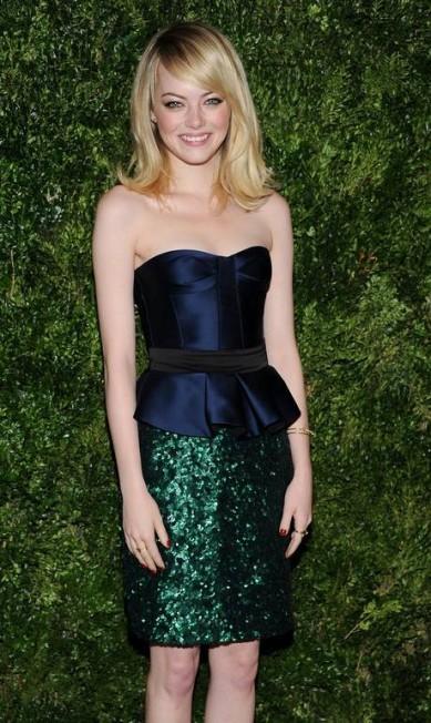 """Em quinto lugar ficou a atriz Emma Stone. Segundo o site, """"Emma teve um ótimo 2012"""" Evan Agostini / AP"""