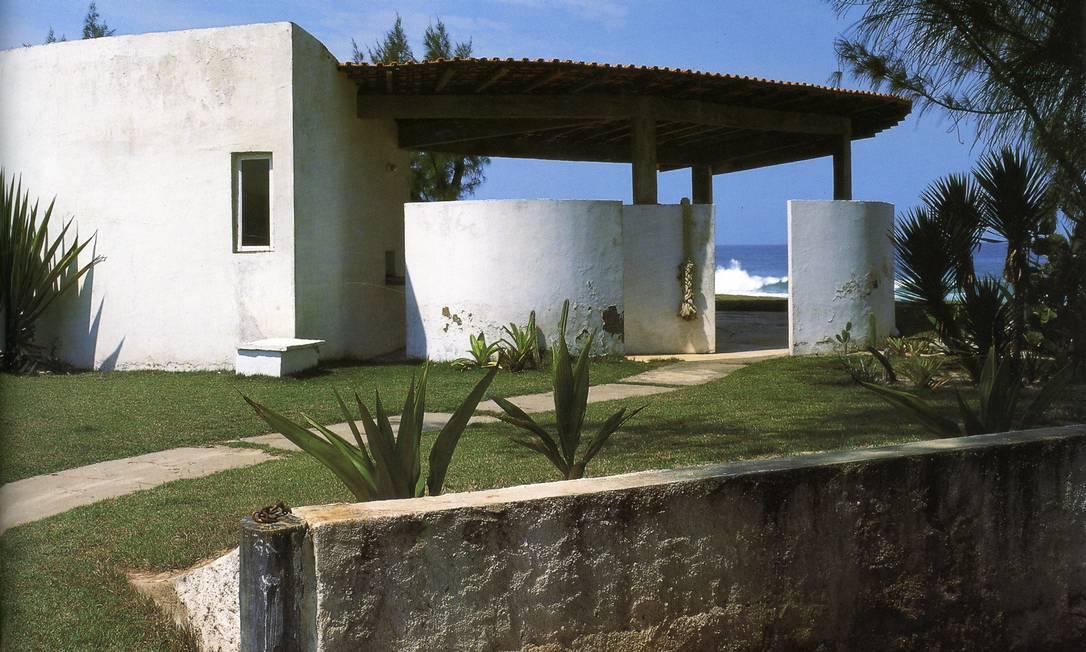 Casa Darcy Ribeiro, em Maricá: combina a modéstia de uma casa tradicional com as linhas sofisticadas da arquitetura moderna Terceiro / Reprodução