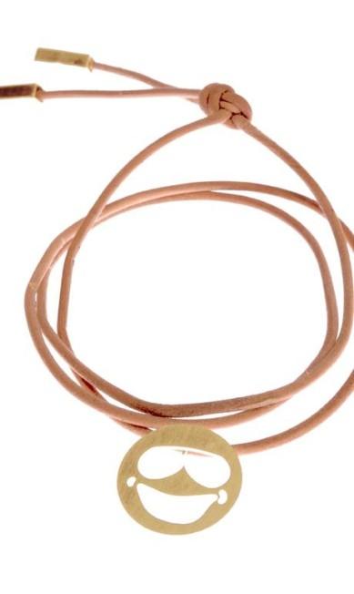 Courinho Emoticons com pingentes com banho de ouro amarelo, rosé ou ródio da Hefestos (21 3283-1500), R$ 50 Divulgação